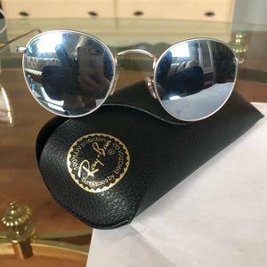 Rayban black reflection lens glasses